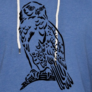Beautiful Snowy Owl in Tattoo Style. - Light Unisex Sweatshirt Hoodie