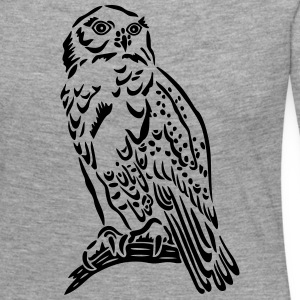 Beautiful Snowy Owl in Tattoo Style. - Women's Premium Longsleeve Shirt