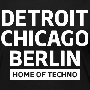 Detroit Chicago Berlin home of techno minimal Club Langarmshirts - Frauen Premium Langarmshirt