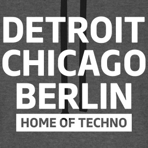 Detroit Chicago Berlin home of techno minimal Club Pullover & Hoodies - Unisex Baseball Hoodie