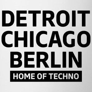 Detroit Chicago Berlin home of techno minimal Club Mugs & Drinkware - Contrasting Mug