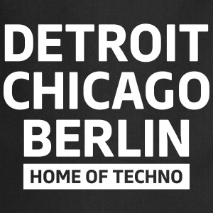 Detroit Chicago Berlin home of techno minimal Club Förkläden - Förkläde