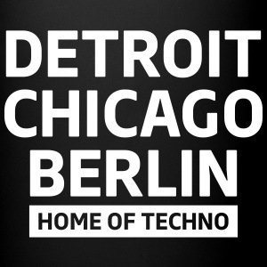 Detroit Chicago Berlin home of techno minimal Club Krus & tilbehør - Ensfarvet krus