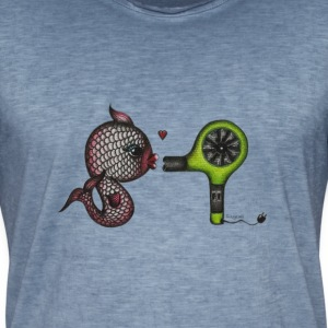 fish in love T-Shirts - Männer Vintage T-Shirt