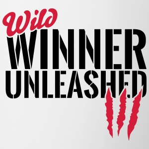 Wild winner unleashed Mugs & Drinkware - Contrasting Mug