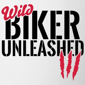 Wild biker unleashed Mugs & Drinkware - Mug