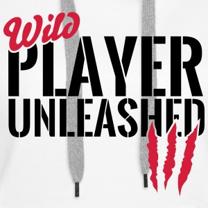 Wild players unleashed Hoodies & Sweatshirts - Women's Premium Hoodie