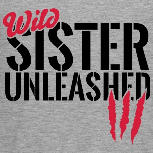 Wild sister unleashed Long Sleeve Shirts - Teenagers' Premium Longsleeve Shirt