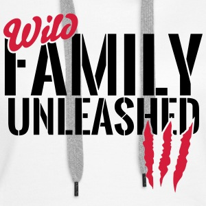 Wild family unleashed Hoodies & Sweatshirts - Women's Premium Hoodie