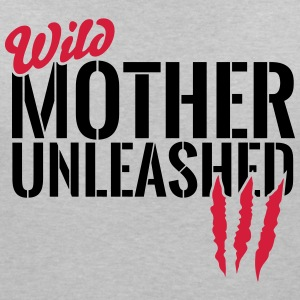 Wilde Mutter unleashed T-Shirts - Women's V-Neck T-Shirt