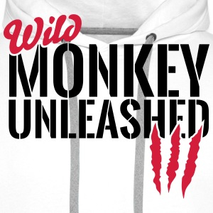Wild monkey unleashed Hoodies & Sweatshirts - Men's Premium Hoodie