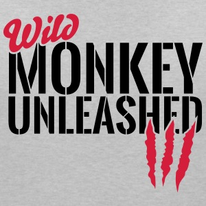 Wild monkey unleashed T-Shirts - Women's V-Neck T-Shirt
