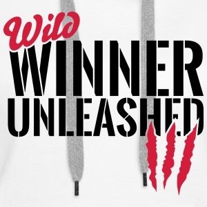 Wild winner unleashed Hoodies & Sweatshirts - Women's Premium Hoodie