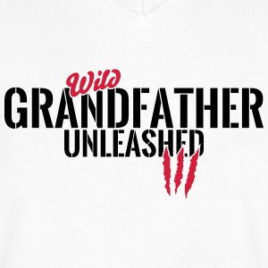 Wild Grandpa unleashed T-Shirts - Men's V-Neck T-Shirt