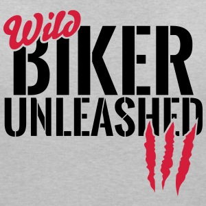 Wild biker unleashed T-Shirts - Women's V-Neck T-Shirt