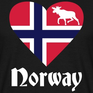 Norway Elk Heart T-Shirts - Men's T-Shirt