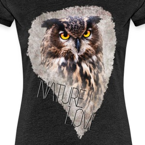 Watercolor Owl Frauen Premium T-Shirt - Frauen Premium T-Shirt