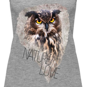 Watercolor Owl Frauen Premium TankTop - Frauen Premium Tank Top