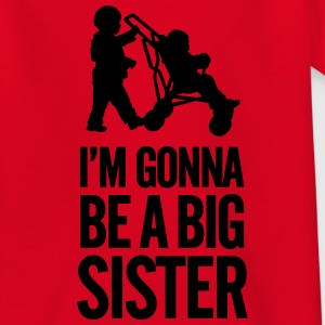 I'm gonna be a big sister baby car T-shirts - Børne-T-shirt
