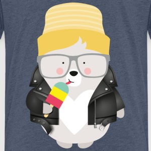 COOL BEAR WITH ICE - Kinder Premium T-Shirt