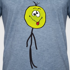 Sick Stickman, emoticon T-Shirts - Männer Vintage T-Shirt