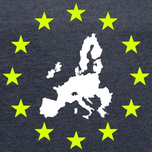 EU minus England T-Shirts - Women's T-shirt with rolled up sleeves