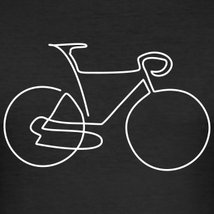 one line bike T-Shirts - Männer Slim Fit T-Shirt