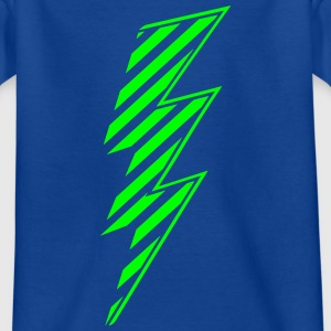 Comic Blitz Streifen Kontur Superhero Flash Symbol T-Shirts - Kinder T-Shirt