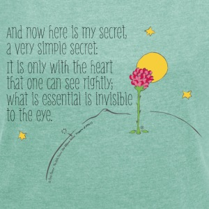 The Little Prince Quote Heart Sees Rightly - Women's T-shirt with rolled up sleeves