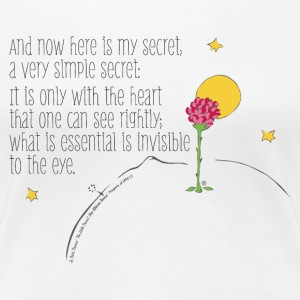 The Little Prince Quote Heart Sees Rightly - Women's Premium T-Shirt