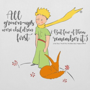 The Little Prince With Fox Quote Grown-Ups - Tote Bag