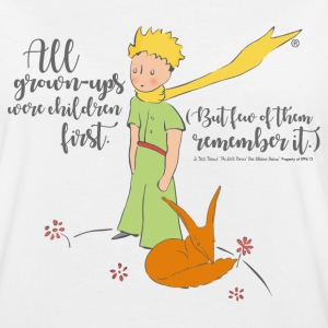 The Little Prince With Fox Quote Grown-Ups - Women's Oversize T-Shirt
