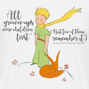 The Little Prince With Fox Quote Grown-Ups - Men's T-Shirt