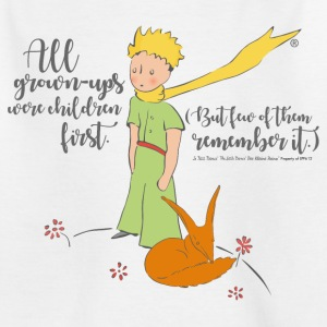 The Little Prince With Fox Quote Grown-Ups - Teenage T-shirt