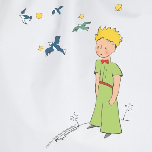 The Little Prince Travels With Birds - Drawstring Bag