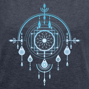 Traumfänger, Dream Catcher, Amulett, Indianer  - Frauen T-Shirt mit gerollten Ärmeln