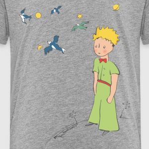 The Little Prince Travels With Birds - Kids' Premium T-Shirt