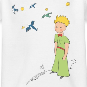 The Little Prince Travels With Birds - Teenage T-shirt