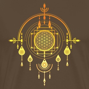 Flower of life, sacred geometry, amulet, yoga, T-Shirts - Men's Premium T-Shirt