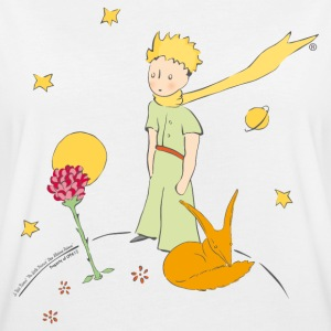 The Little Prince With Fox And Rose - Women's Oversize T-Shirt