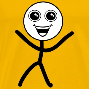 Happy smiley, stick figure T-Shirts - Männer Premium T-Shirt