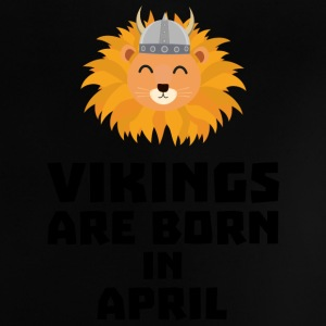 Vikings are born in April Sxa47 Baby Shirts  - Baby T-Shirt