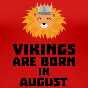 Vikings are born in August S7v9w T-Shirts - Women's Premium T-Shirt