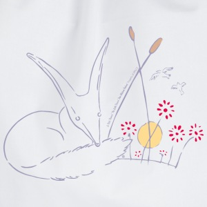 The Little Prince Fox In The Rose Garden - Drawstring Bag