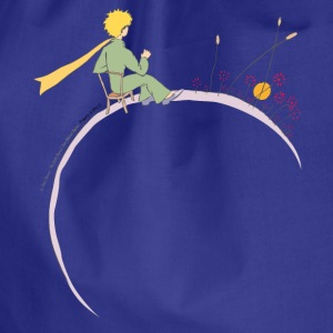 The Little Prince Looks At Sunset - Drawstring Bag