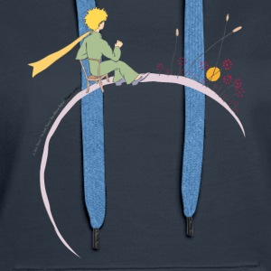 The Little Prince Looks At Sunset - Women's Premium Hoodie