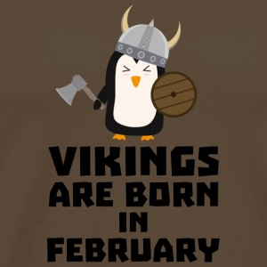Vikings are born in February Sf393 T-Shirts - Men's Premium T-Shirt