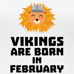 Vikings are born in February S2htp T-Shirts - Women's Premium T-Shirt