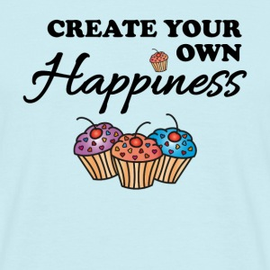 Create your own happiness T-shirts - T-shirt herr