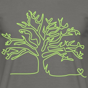 one line tree T-Shirts - Männer T-Shirt